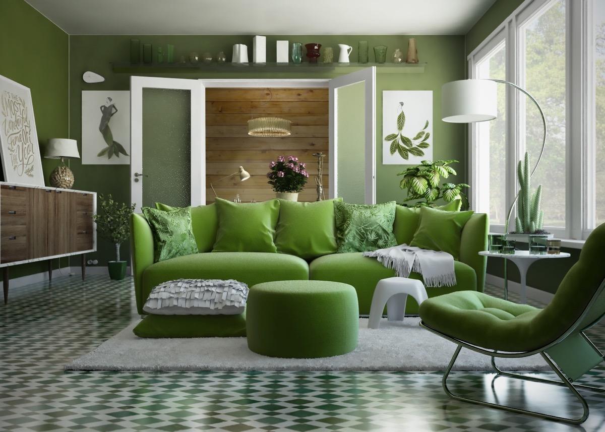 наши читатели бело зеленая гостиная фото доставим