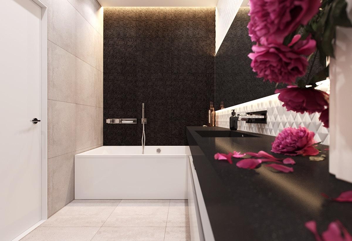 Стильная квартира в фиолетовых тонах: Фотообзор