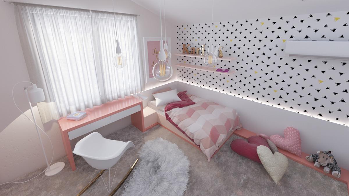 Стильные фото-примеры креативных решений для организации детской комнаты