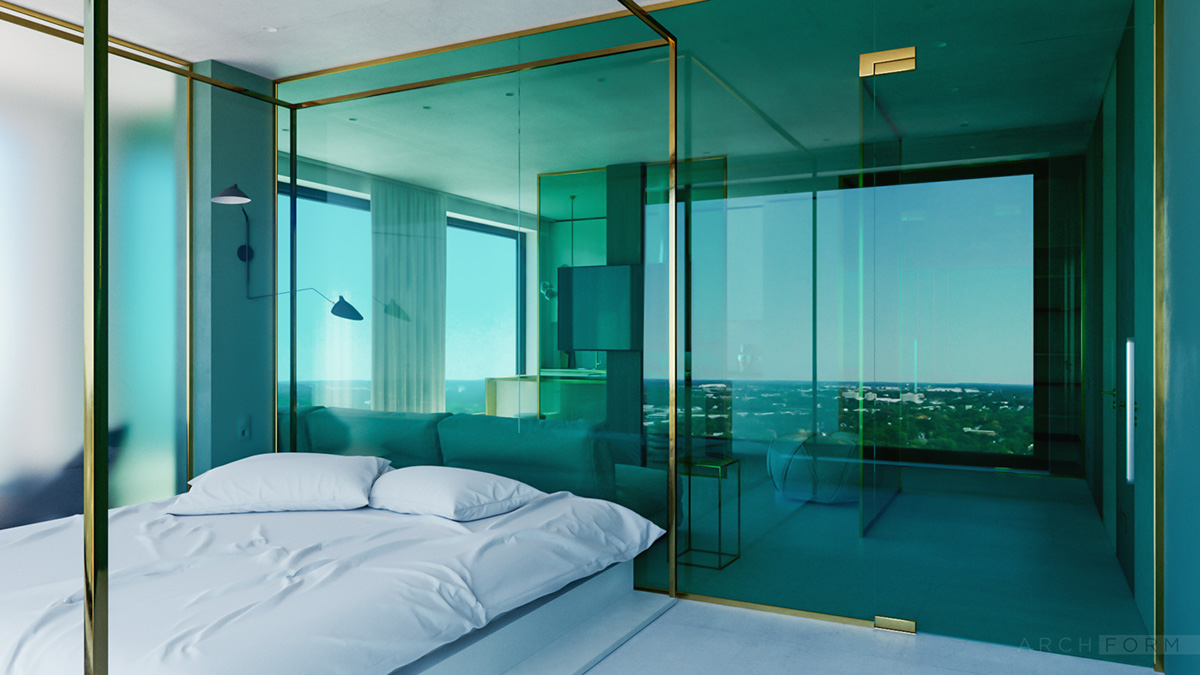 Квартиры-студии с панорамными окнами: Фотообзор