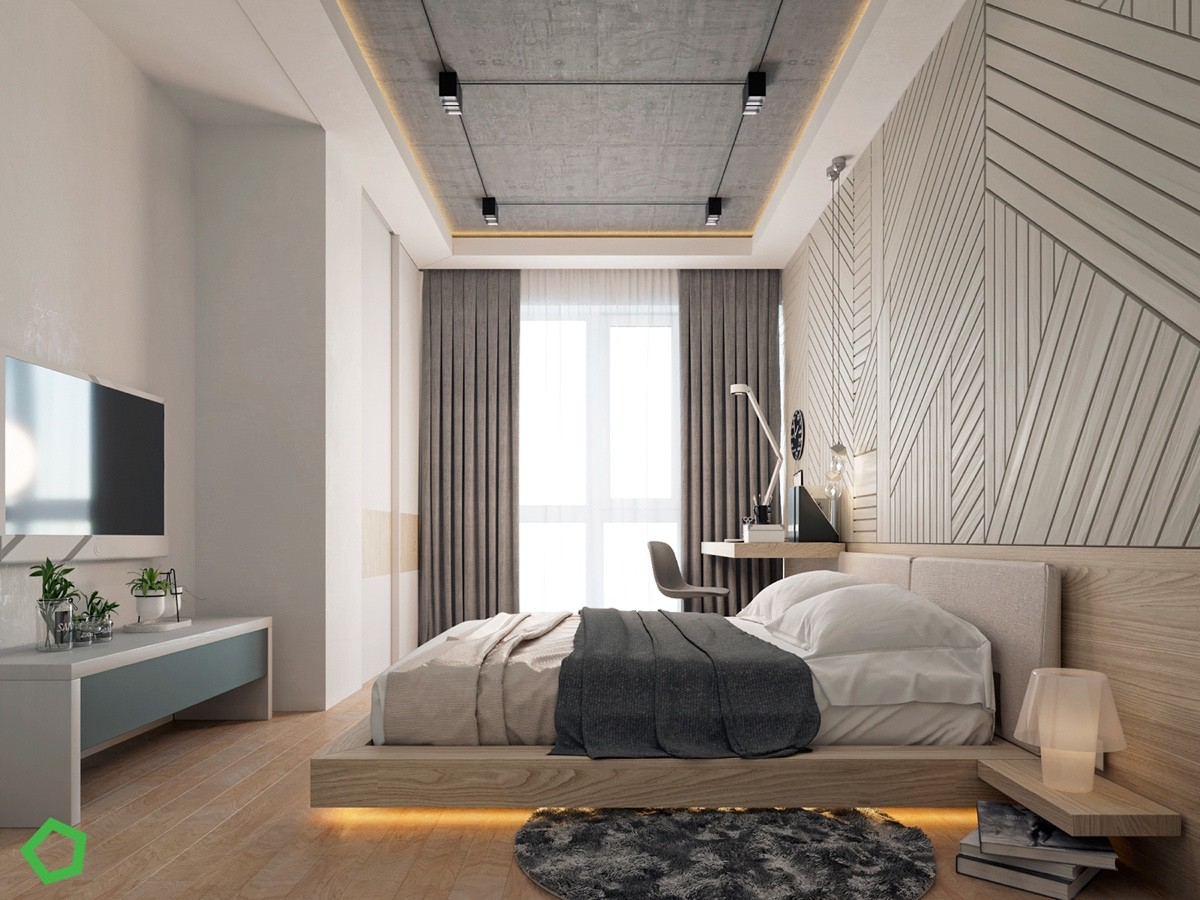 Светлая и темная квартира с монохромным декором: Фотообзор