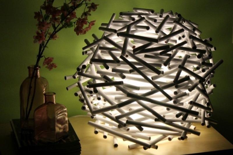 8 идей оригинальных светильников для дома своими руками